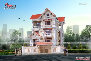 Biệt thự tân cổ điển 4 tầng đẹp hút mắt BT16080