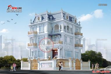 Thiết kế Biệt thự Pháp 4 tầng tại Hải Dương đẹp tinh khôi BT17033