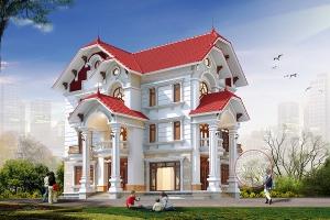 Ngẩn ngơ trước vẻ đẹp thiết kế biệt thự tân cổ điển 3 tầng BT17071
