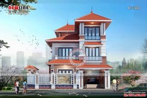 Vẻ đẹp khó cưỡng của Thiết kế biệt thự hiện đại 3 tầng Á Đông BT17080