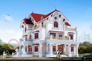 Dinh thự tân cổ điển 3 tầng thiết kế xa hoa hoành tráng BT18068