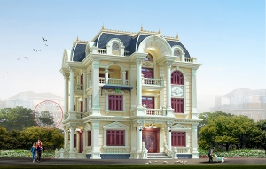 Thiết kế Dinh thự tân cổ điển hoàng gia tại Hải Dương BT19003