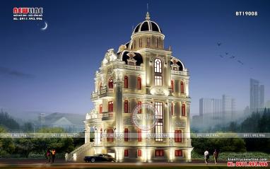 Vẻ đẹp chuẩn mực của thiết kế lâu đài Pháp tại Nghệ An BT19008