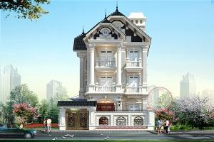 Thiết kế biệt thự cao cấp 3 tầng kiến trúc Pháp tại Hưng Yên BT19010