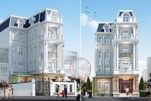 Thiết kế biệt thự phố 4 tầng phong cách châu Âu BT19011