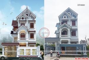 Mẫu biệt thự phố 3 tầng mái thái có thiết kế nhìn là yêu BT19012