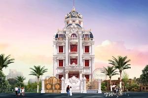 Thiết kế lâu đài 4 tầng mặt tiền 11m sang trọng đẳng cấp BT19013