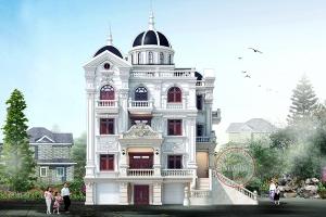 Biệt thự lâu đài 4 tầng 2 mặt tiền thiết kế quá hút mắt BT19014