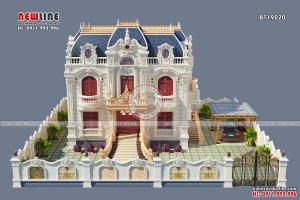 Chất sang trọng cổ điển của Thiết kế Biệt thự lâu đài 2.5 tầng BT19020