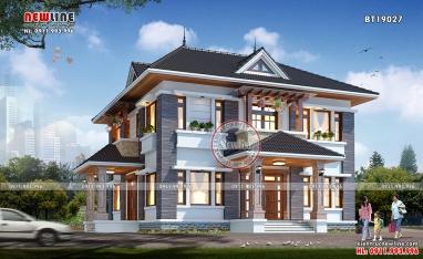 Tư vấn xây nhà đơn giản mái thái 2 tầng dự trù 2 tỷ