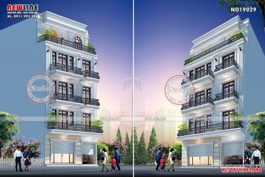 Thiết kế tòa nhà văn phòng cho thuê mặt tiền 10m NO19029