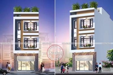 Ấn tượng với mẫu nhà lô phố lệch tầng mặt tiền 5m 4 tầng tại Thái Bình NO20011