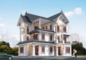 Biệt thự tân cổ điển 3 tầng 2 mặt tiền 9.4m x 14.5m thi công hoàn thiện tuyệt mỹ BT20030