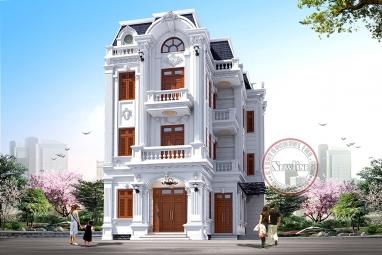 Khẳng định đẳng cấp với biệt thự 3 tầng mái Mansard tân cổ Pháp 6.5m x 13.5m BT20035