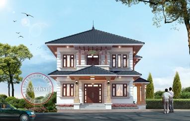 Mẫu thiết kế nhà vườn 2 tầng kiểu Âu Châu phóng khoáng 1.9 tỷ tại Bắc Ninh BT20036