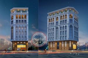 Vị trí đắc địa nơi ngã tư 2 mặt tiền mẫu trụ sở văn phòng cho thuê kết hợp nhà ở 10m x 17m VP20082