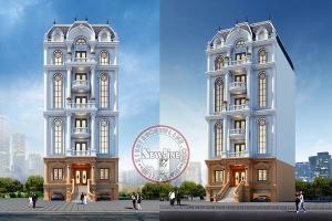 Mải mê mắt ngắm với tòa tháp văn phòng cho thuê 7 tầng có bán hầm đẹp xuất sắc VP20091