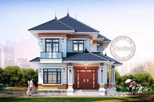 Khám phá nhà vườn 2 tầng mái thái 04 phòng ngủ gần gũi nông thôn Việt Nam BT21003