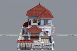Say đắm mẫu nhà vườn 2 tầng mái Nhật 1.1 tỷ mặt tiền 8.2m x 12m tại Hưng Yên BT21009