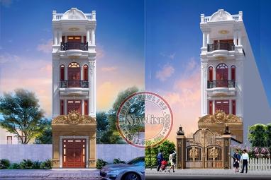 Đắm mình trước nhà lô phố 4 tầng mặt tiền 4.2m tân cổ đẹp xuất sắc NO21019