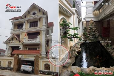 Hình ảnh thực tế biệt thự tân cổ điển đẹp tại Lạng Sơn BT16080