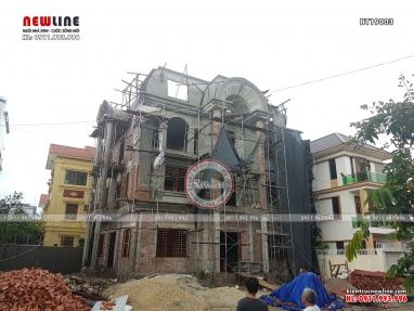 Tiến độ thi công dinh thự tân cổ điển hoàng gia Hải Dương BT19003
