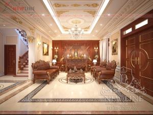 Thiết kế nội thất Biệt thự Tại Thái Bình NTCĐ 171218
