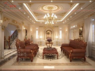 Thiết kế nội thất Lâu đài cổ điển cao cấp NTCĐ 180802