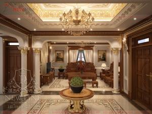 Thiết kế nội thất Lâu đài cổ điển đẳng cấp NTCĐ 181026