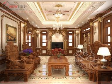 Thiết kế nội thất Lâu đài sang trọng và tinh tế NTCĐ 181219