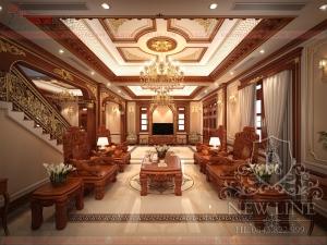 Nội thất Lâu đài cổ điển sang trọng tại Hà Nội NTCĐ 190612